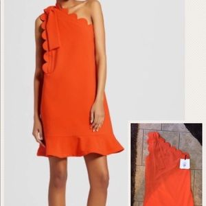 Victoria Beckham by target sheath orange dress